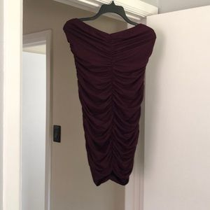 Fashion nova ruched rube dress NWT